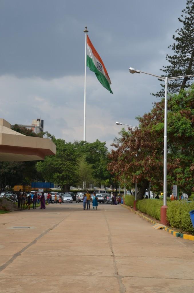Jawaharlal Nehru Planetarium, Bangalore, Indian Flag